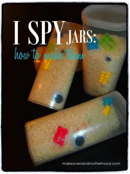 i spy jars: how to make them - http://makeoversandmotherhood.com/2013/08/i-spy-jars-how-to-make-them/