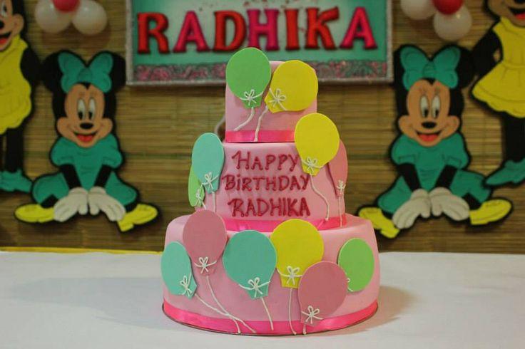 Balloon theme cake!!