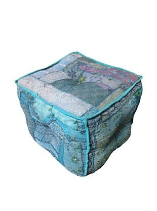 56% OFF Square Azure Ottoman, Teal