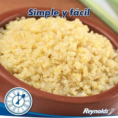 CEREALES QUINOA. es muy fácil cocer la quinoa, por cada taza de quinoa, vierte 3 tazas de agua y cocínala a fuego lento.