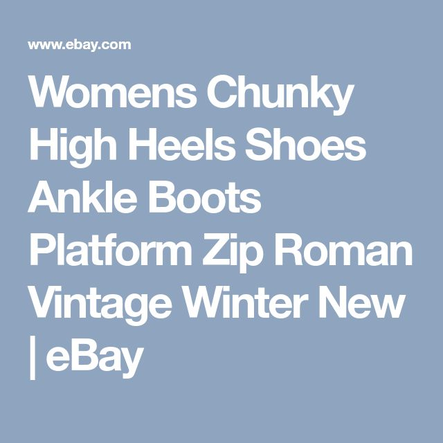 Womens Chunky High Heels Shoes Ankle Boots Platform Zip Roman Vintage Winter New | eBay
