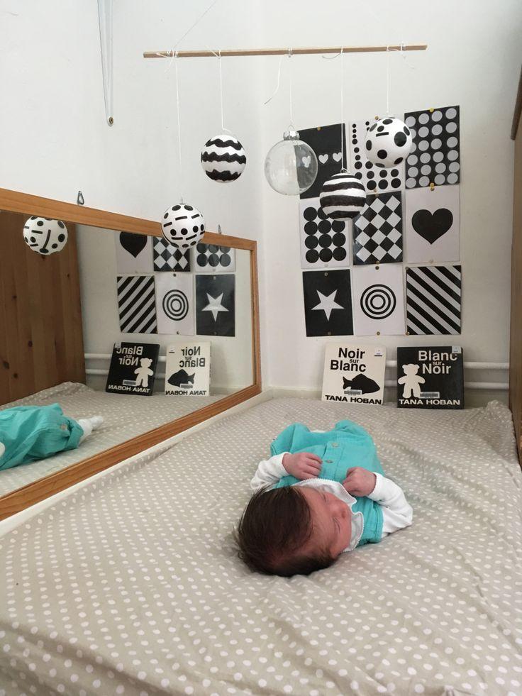 Nido Montessori noir et blanc pour bébé 0-6 mois