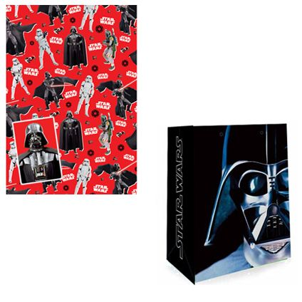 Star Wars Gift Bag and Gift Wrap & Tag set available from Publishers with Free UK Delivery for only £5 at https://www.danilo.com/Shop/Cards-and-Wrap/Birthday-Packs/Star-Wars-Wrap-and-Bag-Pack