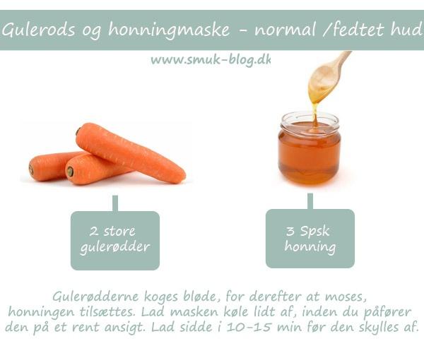Gulerods og honning maske til normal/fedtet hud