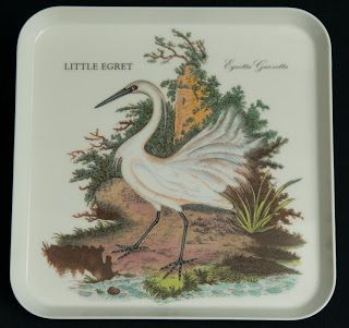 Portmeirion Melamine Serving Tray -- Birds of Britian pattern, medium size, made in Italy.