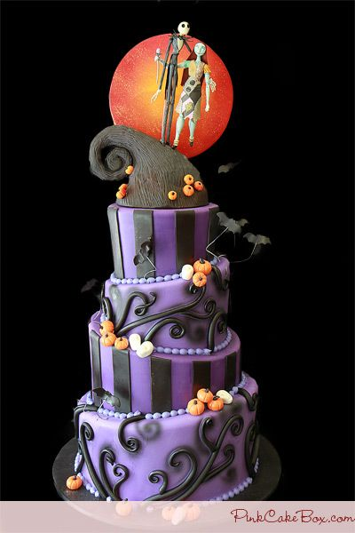 OK So I found the website this comes from. I have no idea if Pinterest will block it though, as it did when I tried to re-pin from someone else's board it to my board. Anyhow, I know I will never make this but it is sure fun to look at! I love the Nightmare Before Christmas :)