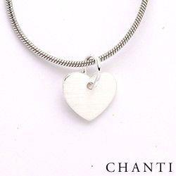 Hjerte vedhæng i sølv