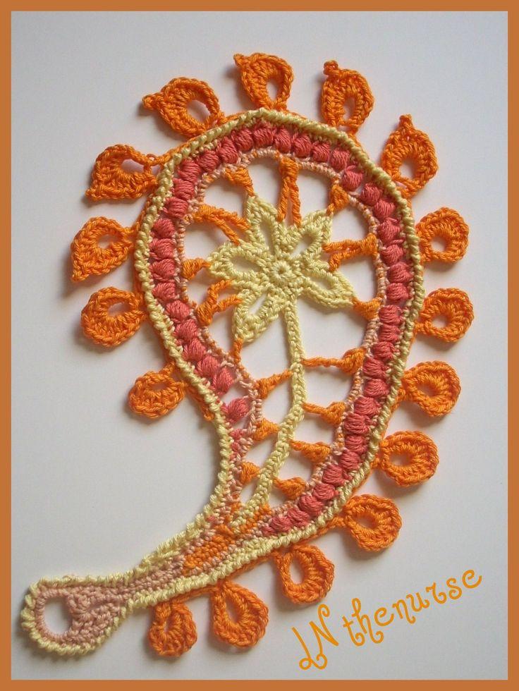 irish crochet - paisley n°2 et 3
