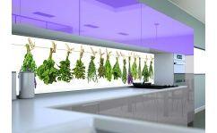 Panel szklany do kuchni HERBS