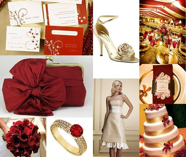 Red & Gold: Wedding Inspiration, Ideas, Red Gold Weddings, Gold Wedding Cakes, Gold Wedding Invitations, Inspiration Boards, Sf 49Ers, Colors Schemes, San Francisco 49Ers