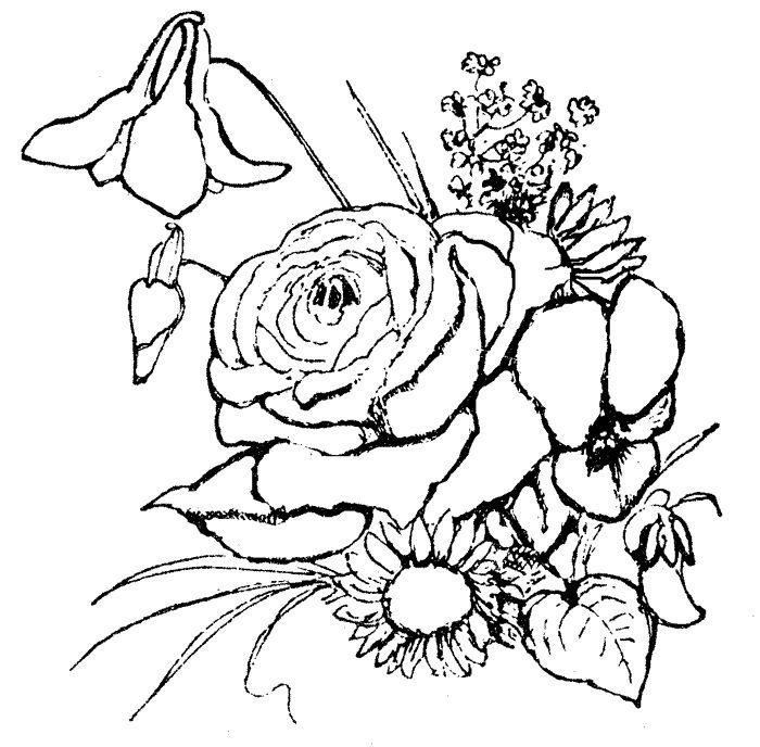 Easter Flowers Colouring Pages : 26 best art skilder inkleursketse images on pinterest