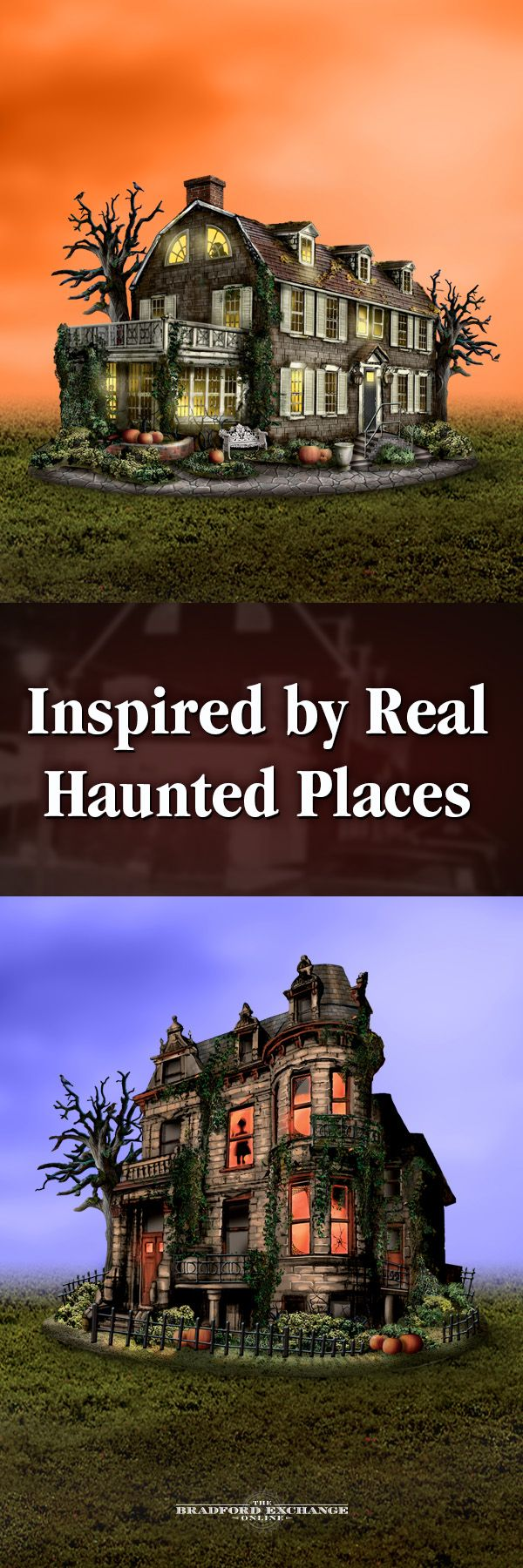 Want to visit America's most haunted places from the safety of your own home? Start your subscription to this spine-tingling village collection featuring collectible lighted buildings inspired by the Amityville House, Franklin Castle and more. Each comes with a collectible printed newspaper card documenting all of the frights.