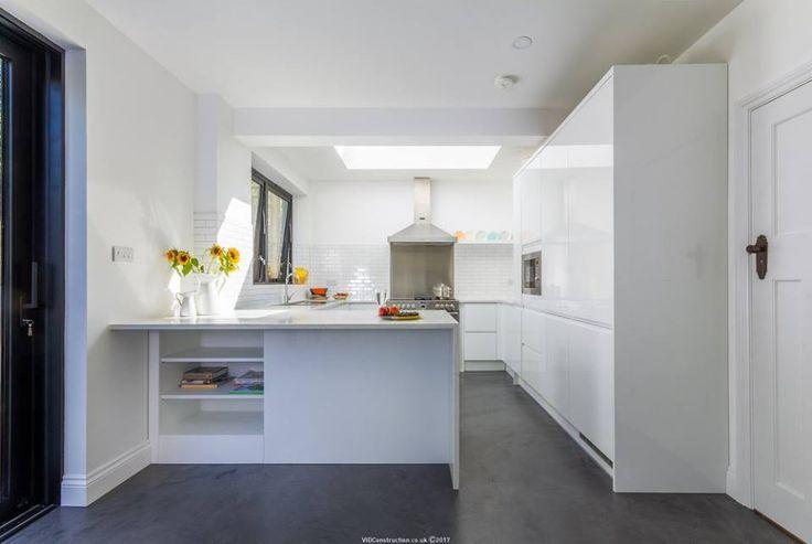 Mikrocement w nowoczesnym domu w Wielkiej Brytanii  Produkty: Bautech Futura Realizacja: VID CONSTRUCTION LIMITED