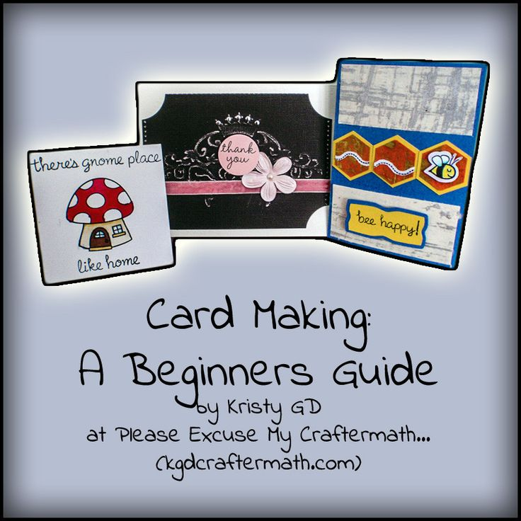 Wonderful beginner's guide to cardmaking. Everything in one post with a great file tree for everything from card sizes to images and more.