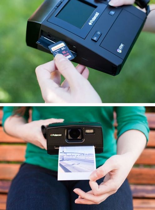 Digital Instant Camera by Poloroid, now you can print from an SD Card! I see a birthday present in my near future.