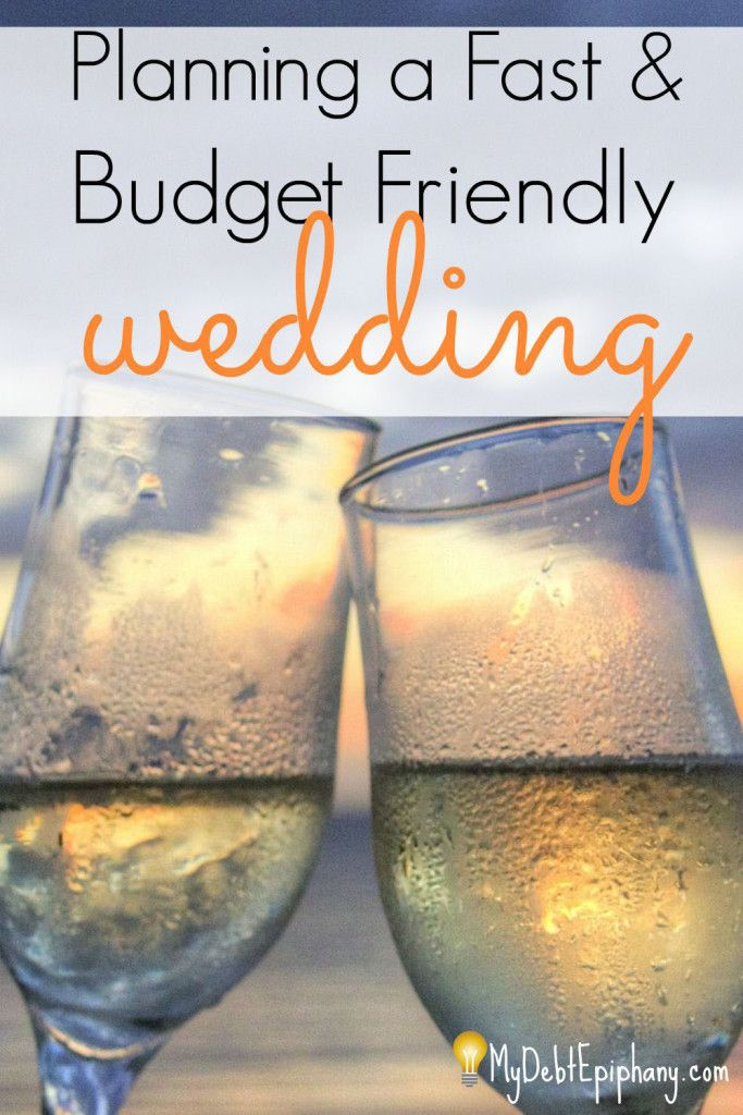 Planning a Fast & Budget Friendly Wedding. Planning a wedding can be a long and stressful task but this article can help with that.