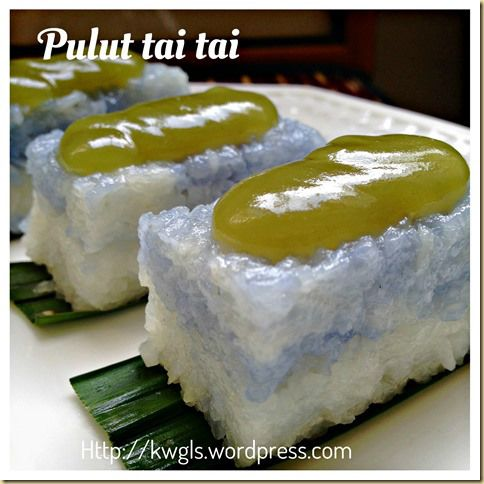 Simple Yet Elegant Nonya Kuih–Kuih Pulut Tai Tai, Pulut Tekan, Pulut Tatal (娘惹兰花加椰糕)- glutinuos rice cake topped with screw pine coconut custard Jam