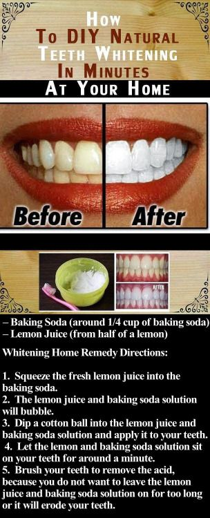 DIY Natural Teeth Whitening in Minutes At Your Home