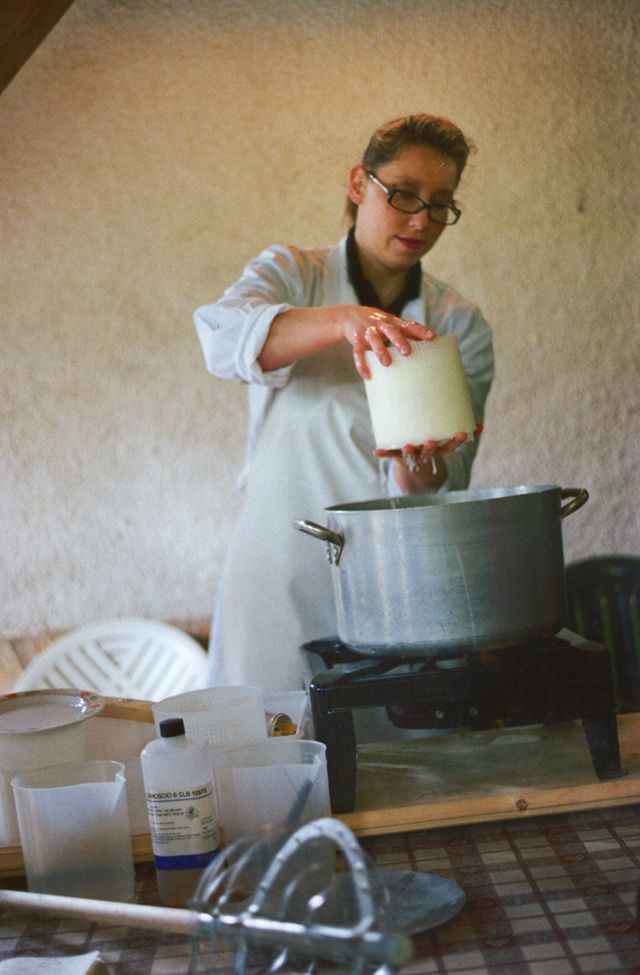 Marianna is a former chemist who had left her job to open an agriturismo, raise goats and produce cheese