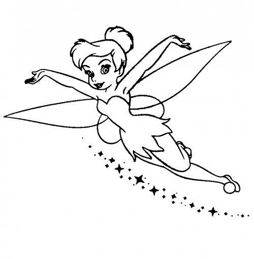 124 best Tinkerbell Colorear images on Pinterest   Coloring books ...