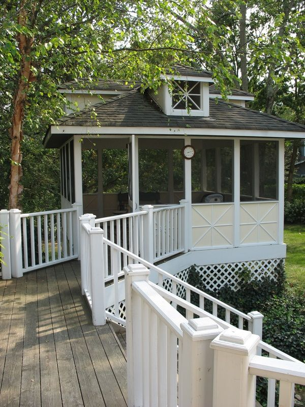 Detached screened porch from Hooked on Houses  I like this one too.....I need a magic checkbook if I'm going to have this one any time soon!