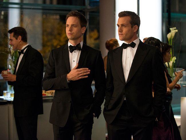 "TV Series: ""Suits"" (2011) Writer: Aaron Korsh. USA. Patrick J. Adams as Mike Ross and Gabriel Macht as Harvey Specter."
