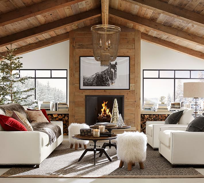 ideas for to make your library modern rustic with your current white leather wood barn
