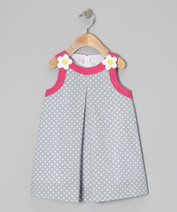 Take a look at this Katie & Co. Light Blue Polka Dot Swing Dress - Toddler & Girls on zulily today!