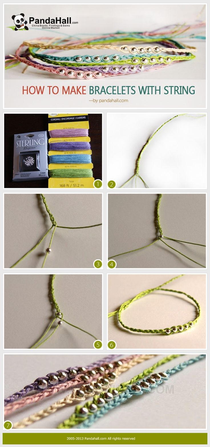 How to make bracelets with string? How to make a trendy gift for your friends with less time? Here you will learn how to make a bracelet with 3 strings. Both supplies and processes are super easy. -  http://www.jewelryamazing.com/homemade-jewelry/how-to-make-bracelets-with-string-how-to-make-a-trendy-gift-for-your-friends-with-less-time-here-you-will-learn-how-to-make-a-bracelet-with-3-strings-both-supplies-and-processes-are-super-easy/