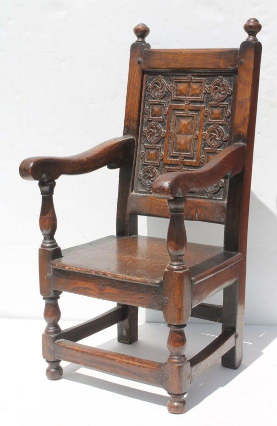 late 17th/early 18thC wonderfully carved oak child's : · Antique ChairsRocking  ... - 214 Best Antique/Vintage Children's Furniture/Rocking Horses
