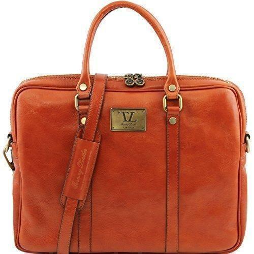Oferta: 170.7€. Comprar Ofertas de 81412835 - Leather tuscaby: PRATO - bolso para mujer Elegante maletín para ordenador portátil de piel, miel barato. ¡Mira las ofertas!