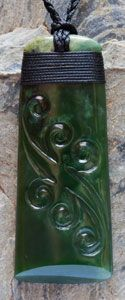 Pounamu (New Zealand Jade) Maori Toki by master artist Ewan Parker The toki is the blade of and adze with which the great war canoes were carved from giant trees so is said to represent a crafts person or artist.