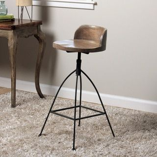 Shop for Handmade Mango Wood Mongolian Adjustable Bar Stool (Indonesia). Get free delivery at Overstock.com - Your Online Furniture Destination! Get 5% in rewards with Club O! - 15782713