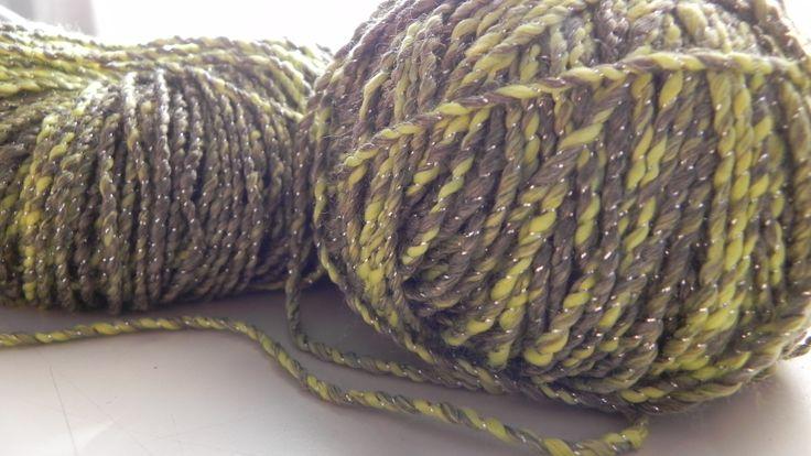 Ricci Lux (manzana) de Nube. Es una lana fantasía de temporada primavera-verano.