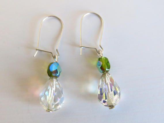 Pendientes de Cristal de Roca pendientes de boda Rock