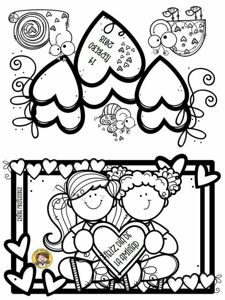 Pin De Joyce Castro En Temas Clas Amor Y Amistad Dibujos Tarjetas De San Valentin Para Ninos Tarjetas De Amistad
