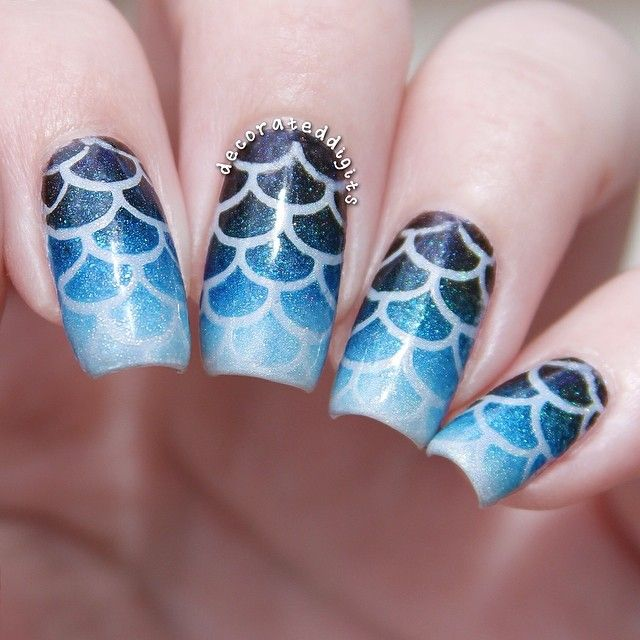 71 best wing feather fish scale nail art images on pinterest instagram photo by decorateddigits nail nails nailart fish scale prinsesfo Choice Image