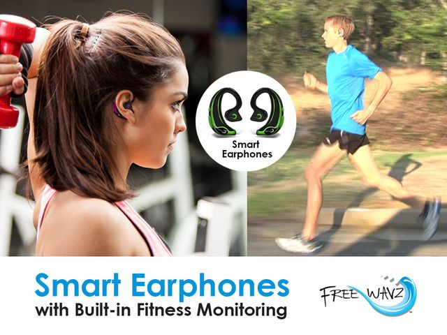 FreeWavz 100% Wire-free Smart Earphones with Built-in Fitness Monitors only on Kickstarter for 2 more weeks! Help us reach our goal and bring this project to life!