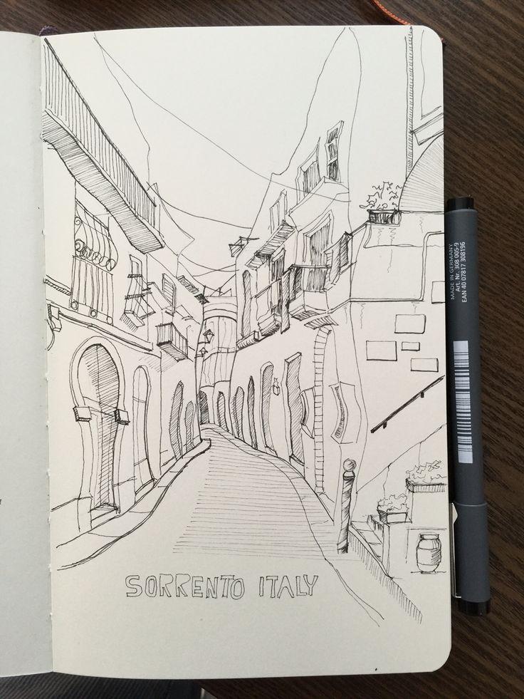 Urban sketches - Sorrento Italy