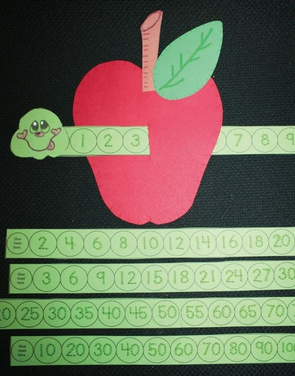 FREE Wormy Apple. Help students learn to count and recognize numbers with a worm…