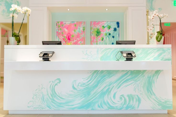 The hand painted cash wrap at our newest Lilly Pulitzer store at Coconut Point in Estero, FL.