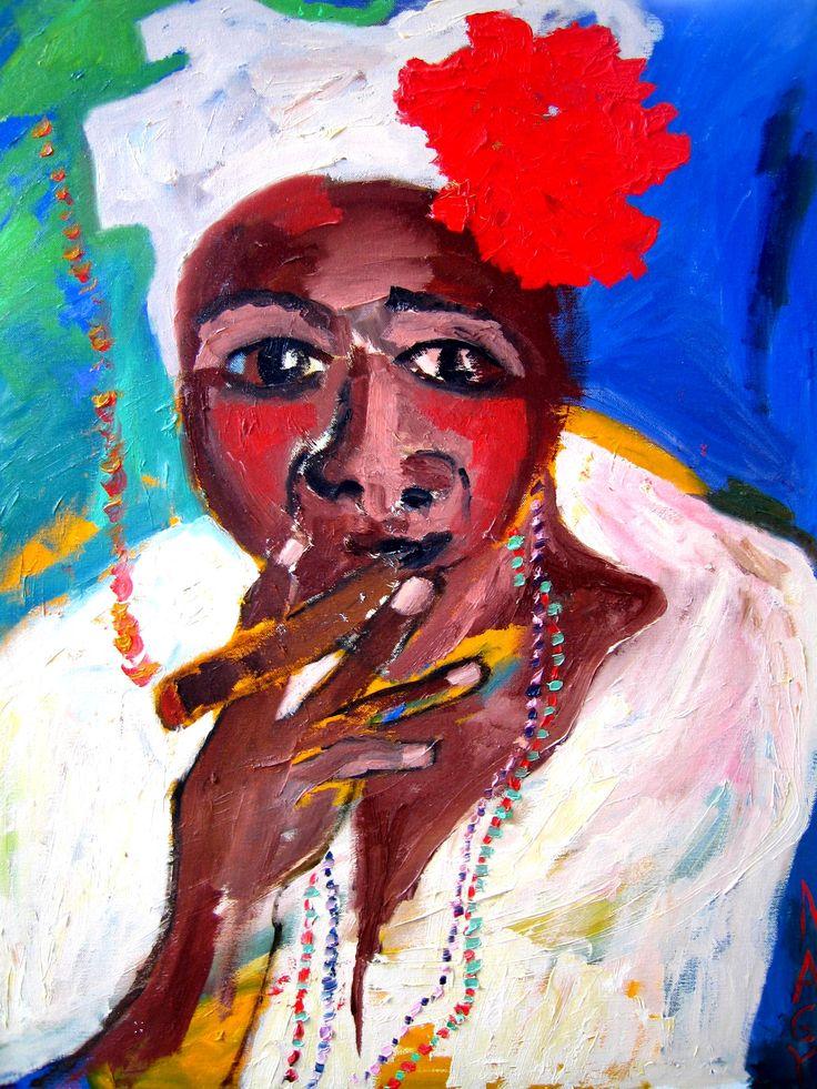 Ginny Nagy Cuban Woman with Cigar