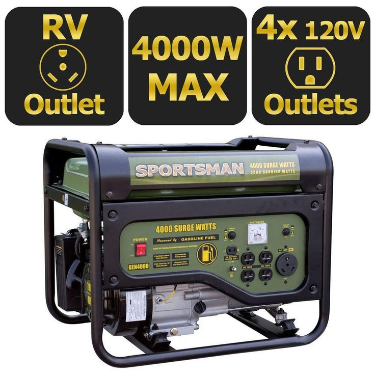 The #4000Watt #Gasoline #Powered #Portable #Generator is the perfect size to take for that weekend getaway, tailgate the game at the stadium or in case you need some temporary power in an emergency situation. It is ideal for hunters and campers running portable TVs, radios, small stoves, grills and other small appliances. This recoil start generator can run for 10 hours with a 50% load on 3.6 Gal. of gas. It is equipped with four 120-Volt outlets, one 120-Volt RV outlet and a 12-Volt DC…
