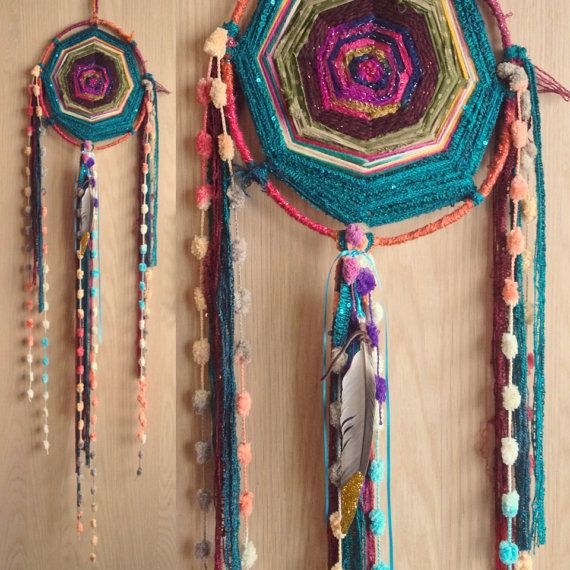 Inspiration: Sacred Circle Gods Eye Dreamcatcher by kmichel on Etsy, $60.00