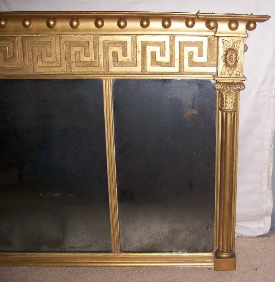 Close-up of our Regency Giltwood & Gesso Overmantel Mirror FOR SALE, http://www.domani-devon.com/stock/mirrors/regency-giltwood-gesso-overmantel-mirror