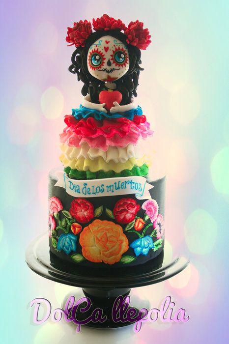 DIA DE LOS MUERTOS/DAY OF THE DEAD~Dulce Catrina - by PALOMA SEMPERE GRAS @ CakesDecor.com - cake decorating website