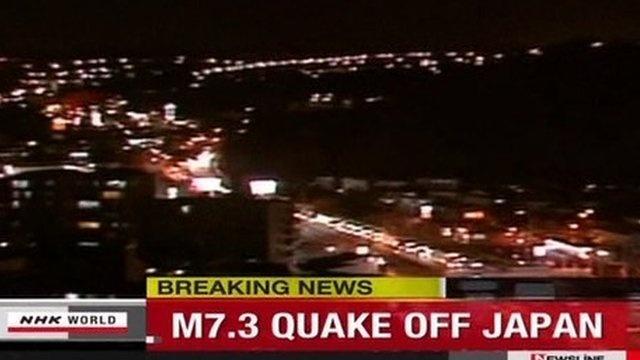 A 7.3 magnitude quake has struck off Japan's eastern coast, triggering a small tsunami and sparking evacuations.