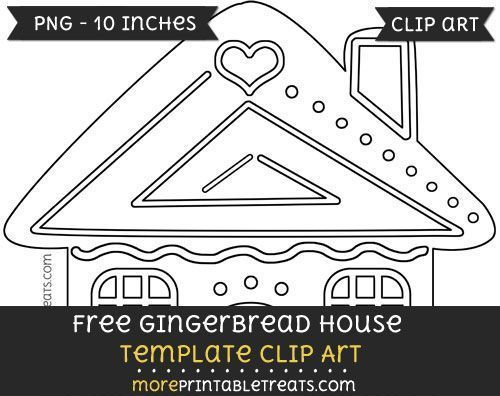 Free Gingerbread House Template Clipart