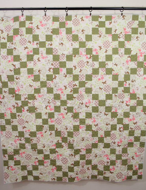 Modern Patchwork Quilt For Sale Irish Chain Quilt by ModernArras