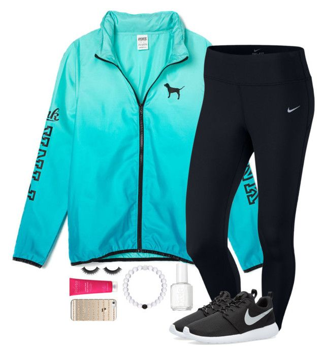 Ootd! :) by lilypackard on Polyvore featuring NIKE, Casetify and Essie